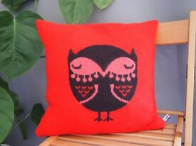 Donna Wilson Owl Cushion in Red