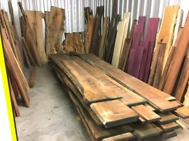Timber Hardwood Waney Edge Live Edge