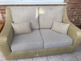 Wicker sofa and chair made and sold by 2Furnish in the uk.