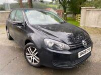 🔥 2009 VOLKSWAGEN VW GOLF 2.0 TDI MK6 DIESEL LOW MILES BLACK MANUAL LOVELY CAR 🔥