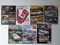 Vintage editions of CAR Magazine from 1991 - 7 issues.