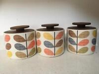Orla Keily tea/coffee/sugar storage jars