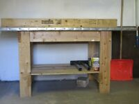 For sale wooden work bench in good condition