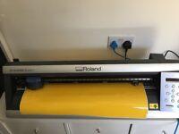 """Roland CAMM-1 GX-24 Vinyl Cutter 24"""" cutter silhoutter cameo upgrade"""