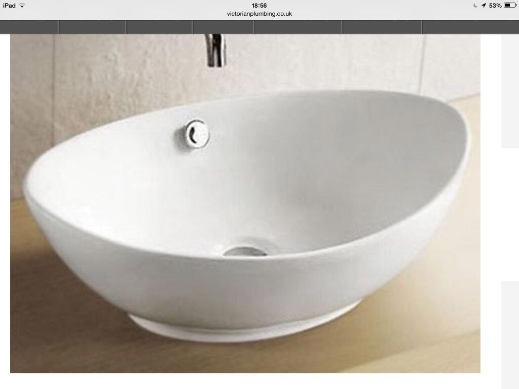 Bathroom Sinks Gumtree oval countertop basin | in wheatley, oxfordshire | gumtree