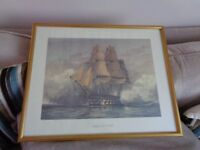 Framed picture of The Victory ship