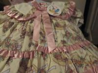 NEW WITH TAGS BABY DRESS + MATCHING KNICKERS (M)