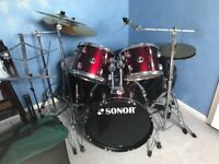 Sonor Drum-kit, full set, collection only.