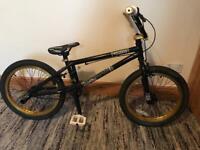 "BMX Voodoo Malice bike 20"" gold effect wheels"