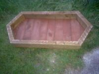 Large Wood Garden Planter / tray
