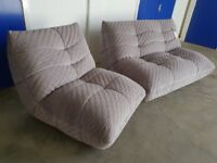 BRAND NEW MODERN DESIGNER KINK FABRIC SUITE 2 SEATER & LOUNGE CHAIR DELIVERY AVAILABLE