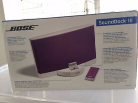 ***BRAND NEW*** Bose Sound Dock III Speakers (purple)