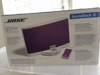 ***BRAND NEW*** Bose Sound Dock III Speakers (purple)