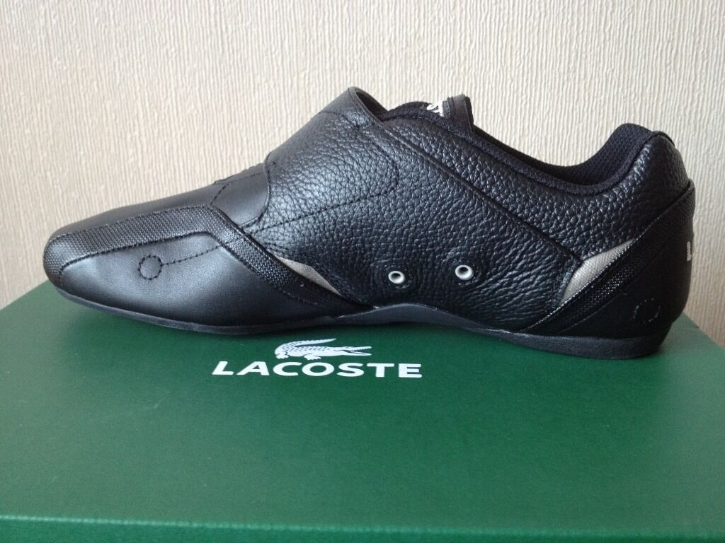 lacoste black trainers size uk 9 buy sale and trade ads. Black Bedroom Furniture Sets. Home Design Ideas