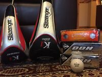 Brand new slazenger driver and 3 wood clubs