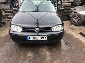 2002 Volkswagen Golf S 5dr Hatchback Petrol 1.4L Black BREAKING FOR SPARES