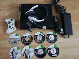 XBOX 360 120GB Headset & Games
