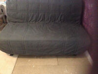 Grey Ikea Lycksele Double Sofa Bed Settee Futon Couch Daybed possible delivery