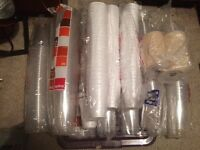 Disposable strong plastic cups job lot