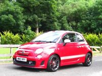 2010 ABARTH 500 1.4 16V T-JET **ELPRESIDENTE RED / WHITE DECALS - SUPERB HOT HATCH**