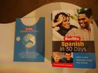 LEARN SPANISH IN 30 DAYS. BOOK AND CD