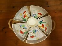 Assorted snack dish porcelain serving tray - made in France