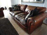 Free Large Used Leather Sofa