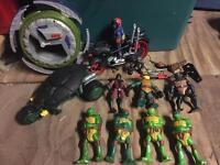 TMNT Teenage mutant ninja turtles figures and vehicles