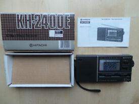 RETRO HITACHI 10 BAND RADIO RECEIVER MODEL KH-2400E BOXED