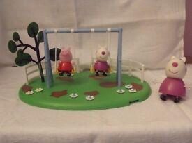 Peppa Pig Muddy Puddle Playground Swings Set
