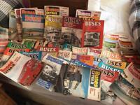 Vintage bus/coach magazines job lot (45 magazines)