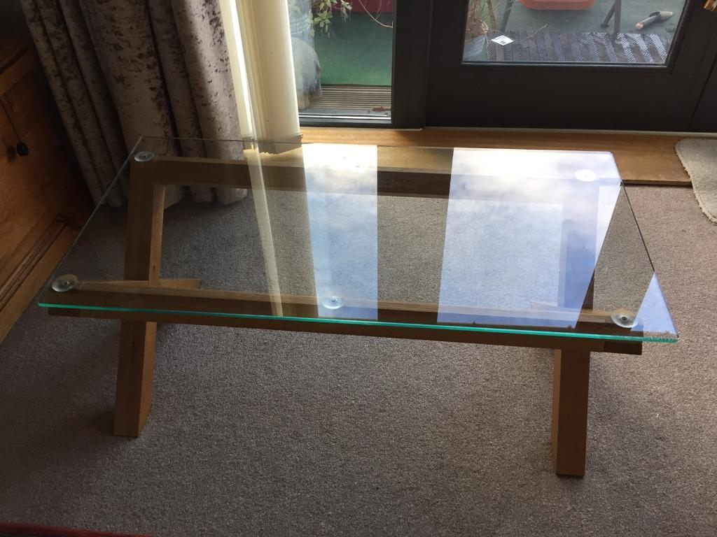 Oak Glass Coffee Table In Chelmsford Essex Gumtree
