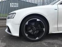 """19"""" Rotors Black and Silver with tyres 5x112 Audi VW fitment"""
