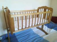 Baby Cot + Mattress In Full Working Condition