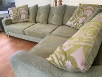 Corner Sofa with loose back cushions