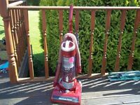 HOOVER HURRICANE POWER VACUUM, LIGHTLY USED, THOROUGHLY CLEANED, LONG & SHORT HOSE, CREVICE TOOL.