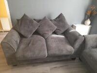 2 x grey sofas