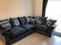 Corner scatter back cushion corner sofa