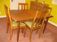 Meredew dining table and 4 dining chairs