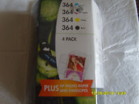Set of 4 ink cartridges with photo paper and envelopes for HP 6520 7520 5520