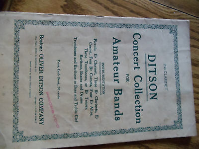 CLARINET DITSON CONCERT COLLECTIONS FOR AMATEUR BANDS