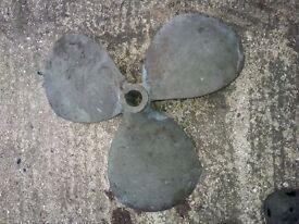 Bronze propeller. Sold