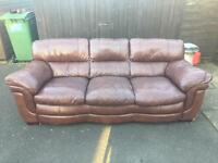 Large Leather Sofa ( Can Deliver )