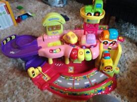 Kids toot toot cars and garage