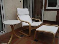 IKEA Poang armchair plus side table
