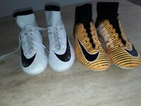 2 pairs of boys Nike Football Boots size 4
