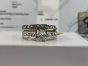 #320 14K White Gold Ladies Oval Diamond Engagement Set 1.27CTW *Size 9 1/2* Appraised at $7550, Selling For $2395!