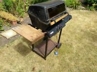 Free - large gas Barbecue / BBQ, 2 burners with side ring and side table.