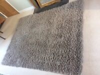 Large NEXT shagpile rug mink colour