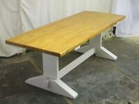 Farmhouse/dining tables. Individually handmade in Wales. Free delivery.